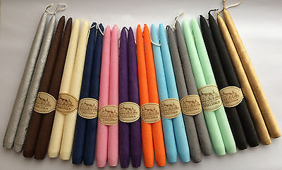 4 Velour Tapered Candles 30cm
