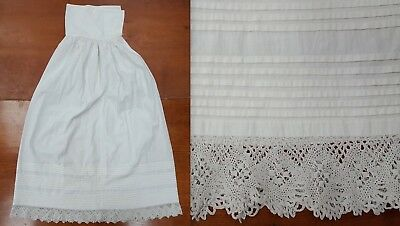 Victorian Child's Infant Christening Baptism Gown Slip Long Antique Vintage Lace