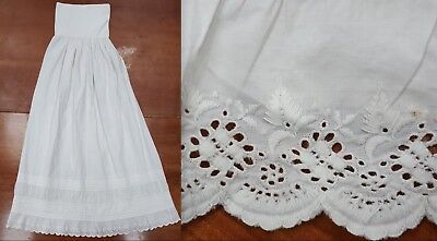 Victorian Child's Infant Christening Baptism Gown Slip Long Antique Embroidered