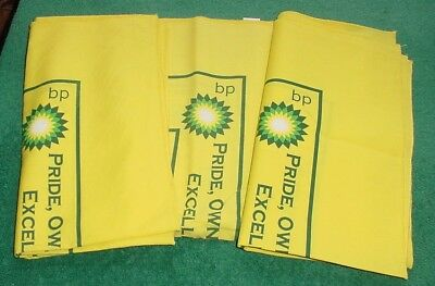 "Rare Lot of 3 BP British Petroleum East Texas Safety Bandanas Oil Gas 21"" Square"