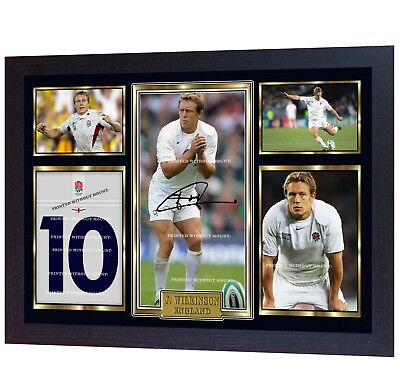 Jonny Wilkinson signed autographed photo print Rugby Union FRAMED
