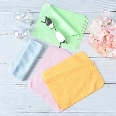 5pcs cleaner clean glasses lens cloth wipes microfiber eyeglass cleaning FO