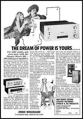 1973 Harem girl genie Stereo wholesalers Maryland vintage photo print Ad ads9