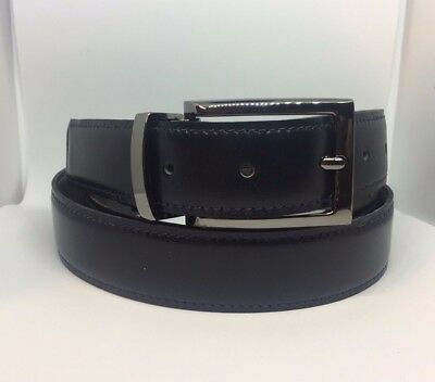 """RIHACHAN MENS GENUINE LEATHER BELT GIFT BOXED BROWN SIZES 35-36/"""" 45-46/"""""""