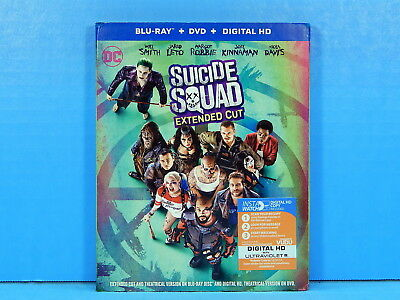 Suicide Squad - Extended Cut (Blu-ray & DVD with Slipcover) NEW