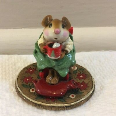 Wee Forest Folk M-269 Hot Cocoa! LIMITED EDITION 2001 Retired Christmas WFF