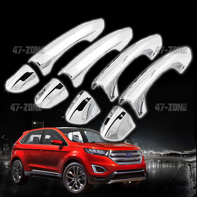 For  Ford Edge Chrome Door Handle Cover D No Passenger Side Keyhole