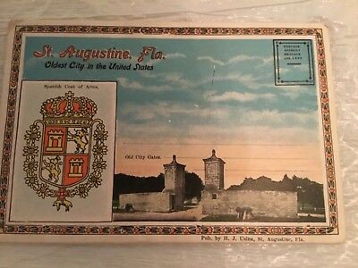 St. Augustine, Fla. oldest city in the United States postcard folder.