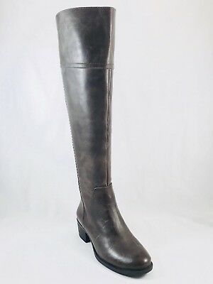 50eaf419d2b Vince Camuto Bendra Laced Over the Knee Boots Grey Distressed Leather Size 6