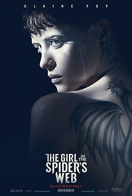 "The Girl in the Spider's Web ""B"" 11.5x17 Promo Movie POSTER Claire Foy"