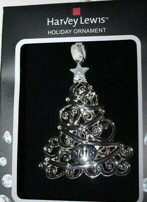 8de5ff45c607 2018 Christmas Tree Holiday Ornament Harvey Lewis Made with Swarovski  Elements