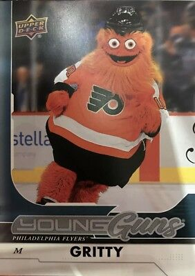2018-19 Upper Deck 5x7 Gritty Young Guns Mascot Philadelphia Flyers Rookie RC