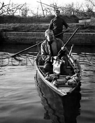 Antique Repro 8X10 Photograph Ernest Hemingway Duck Hunting With Guide