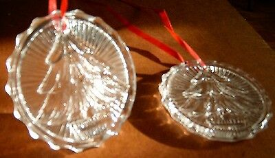 Christmas - Ornament - Crystal Tree - Vintage 1960s - 2 in set