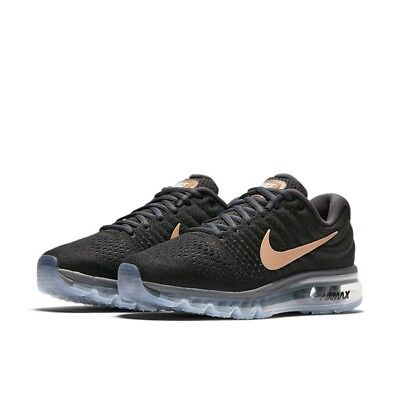559849fe937 Nike Air Max 2017 Running Shoes Black Red Bronze 849560-008 Women s Multi  Size