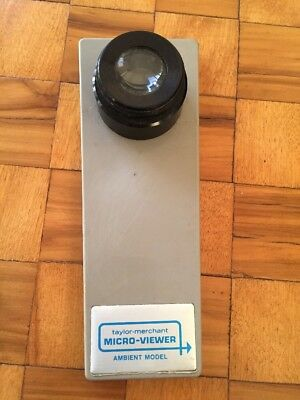 Taylor Merchant Micro-Viewer, Magnified Photographic Slide Viewer Photos Slides