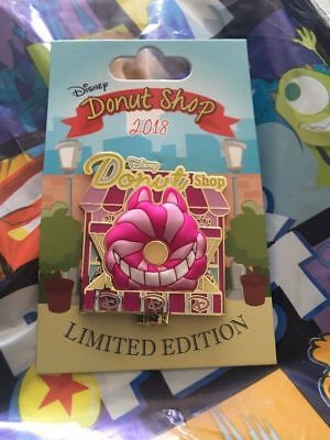 Disney Parks Pin of the Month Donut Shop Cheshire Alice LE 3000 Pin