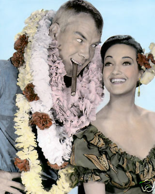 """Lee Marvin Dorothy Lamour Donovan's Reef 1963 8X10"""" Hand Color Tinted Photograp"""
