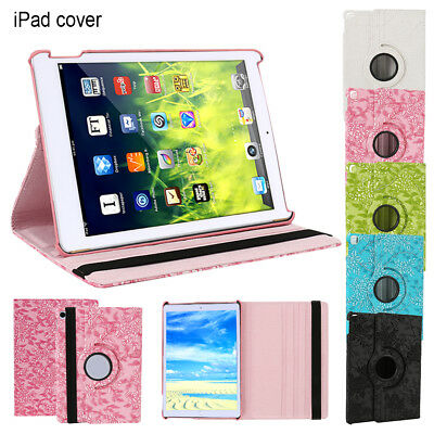 New iPad 360 Rotating Stand Case Cover For Apple iPad 5th Generation 2017 9.7""