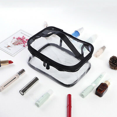 1x Multifunction Transparent Waterproof PVC Cosmetic Bag Travel Storage Wash Bag