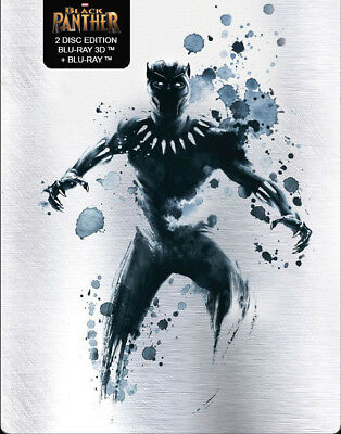 Black Panther (Blu-ray 3D + Blu-ray) (STEELBOOK)(All / Region Free)(NEW) (2018)