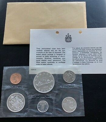 1963 Canada Silver Proof Like Mint Set Pl With Original Coa + Envelope!! Mint!