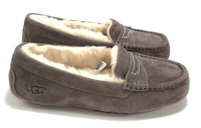 598c2c4c813 UGG WOMEN'S VIOLETTE Sparkle Stormy Gray Moccasin Slippers / Shoes Size 6  NIB