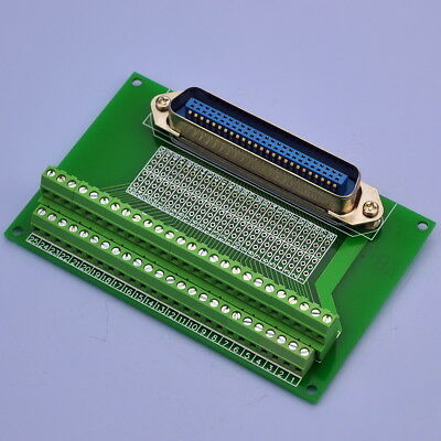 "50-Pin 0.085"" Centronics Vertical Male Ribbon Connector Breakout Board."
