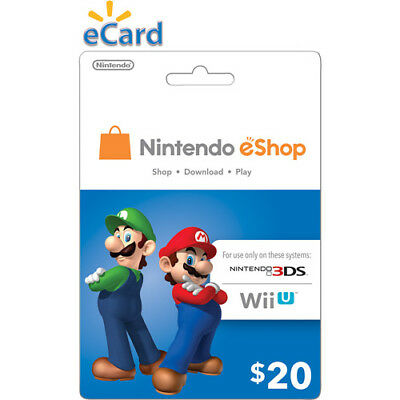 Nintendo $20 USD eShop Gift Card - Nintendo Switch/3DS/WiiU Digital Key [US]