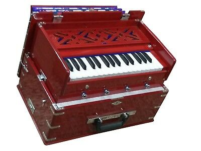 SAFRI HARMONIUM~2¾ OCTAVES~4 STOPS~DOUBLE REEDS~TUNED TO 440 Hz~TRAVELER~KIRTAN