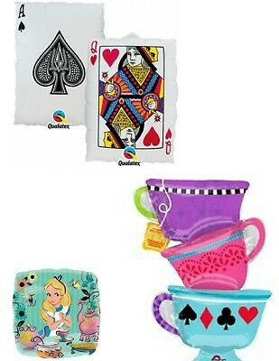 Alice In Wonderland Mad Hatters Tea Party Balloons Party Ware Decoration Helium