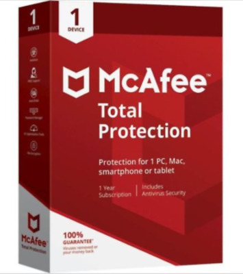 McAfee Total Protection 2019 1PC Windows 11 Months Antivirus PC Windows new