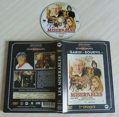 Dvd Film Rene Chateau Video Les Miserables 1 Ere Epoque Jean Gabin Bourvil