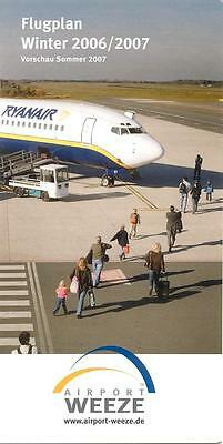 Airport Weeze Flugplan Timetable Winter 2006/2007