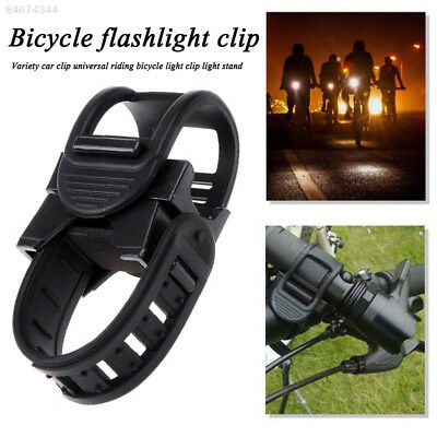 6601 Black Flashlight Bracket Bicycle Accessories Silicone Bicycle Light Clip