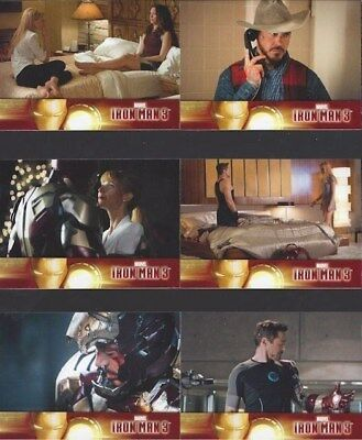 60 Card Basic / Base Complete Set Iron Man 3 Marvel Downey Jr Paltrow Pearce