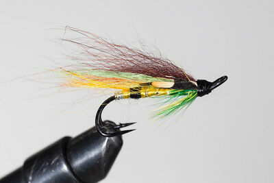 Salmon Fly, Green Highlander , Double Hook. (3-pack) Pick a size.Fishing Fly