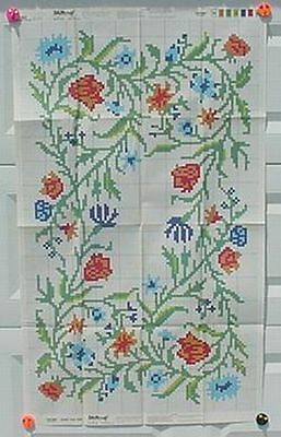Shillcraft Exacta-Graph Paper Pattern - #493 Meadow Flowers 30x50 w/recipe
