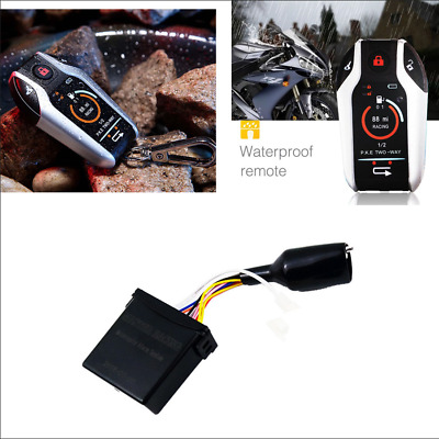 Motorcycle Two Way Anti-theft Alarm Real-time Alert Vibration Alarm Remote Start