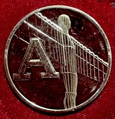 Angel of the North 10p. Letter A. Great British Coin Hunt