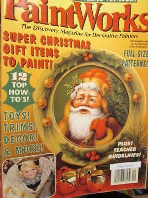 Paint Works Magazine December 1995- Gutcher Santa/Puzzle Wagon/Partridge/Toys/Sa