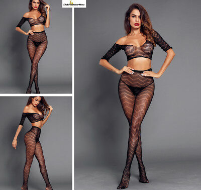 Hot Reizwäsche Fishnet Body Stocking Catsuit Netz Body Unterwäsche |H| 790037-2