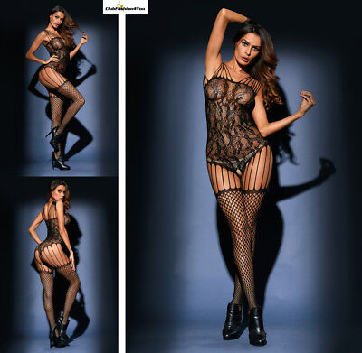 Hot Reizwäsche Fishnet Body Stocking Catsuit Netz Body Unterwäsche |H| 79972-2