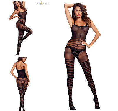 Hot Reizwäsche Fishnet Body Stocking Catsuit Netz Body Unterwäsche |H| 790056-2
