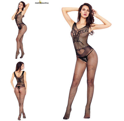 Hot Reizwäsche Fishnet Body Stocking Catsuit Netz Body Unterwäsche |H| 79950-2
