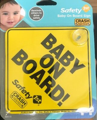 NEW - Safety 1st Baby On Board Sign -