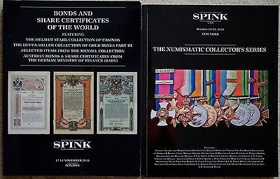 Two World Bonds, Shares, Currency, Documents Auction Catalogs - Spink 2016