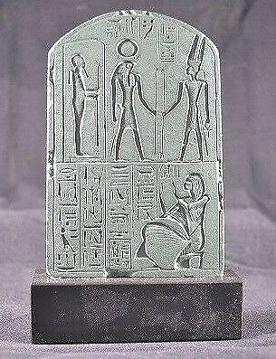 Egyptian Votive Stele of Chia Scribe & Treasurer of Ramses II-Louvre original