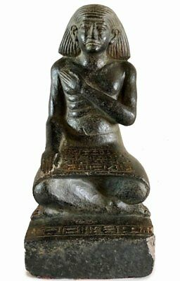Egyptian Scribe Seated Sculpture Statue-MMA Authentic Metropolitan Museum art 12