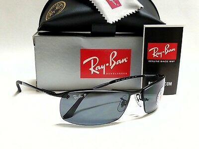 f7320ce8c6c New Authentic RAY-BAN RB3183 002 81 Black Grey Polarized Lens 63mm  Sunglasses